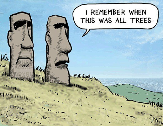 Deforestation_Easter_Island_Maui_Sculptures_Cartoon